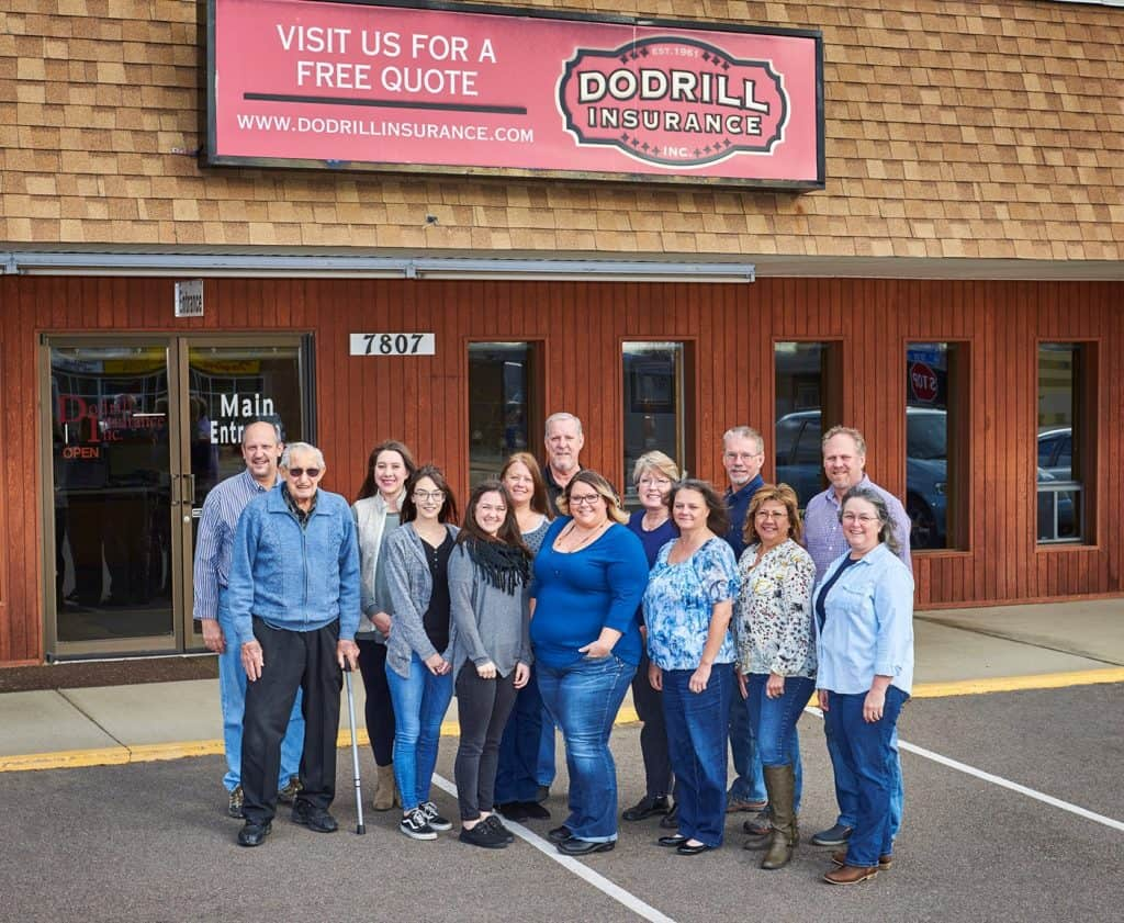 Dodrill Insurance staff in front of our Denver, Colorado office